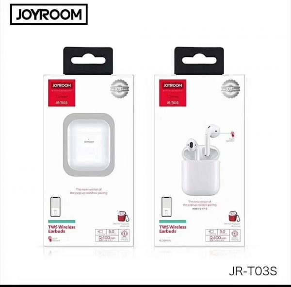 JOYROOM JR-T03S TWS WIRELESS EARBUDS WITH WINDOW (ORIGNAL)