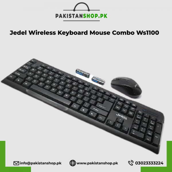 Jedel Wireless Keyboard Mouse Combo Ws1100