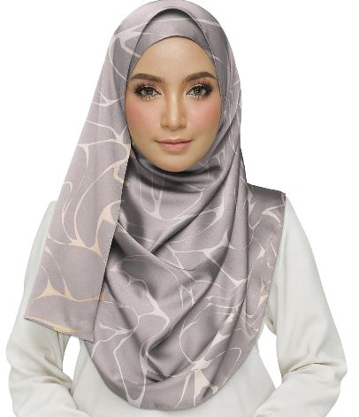 Abstract Texture With Rose Gold Hijab