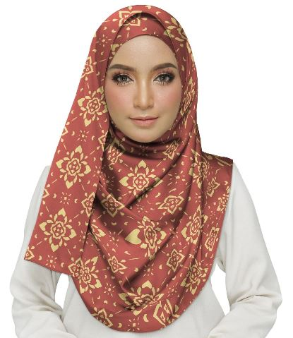 Elegant Pattern With Flat Design Hijab