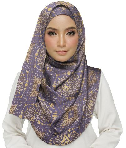 Gold Pattern Hijab