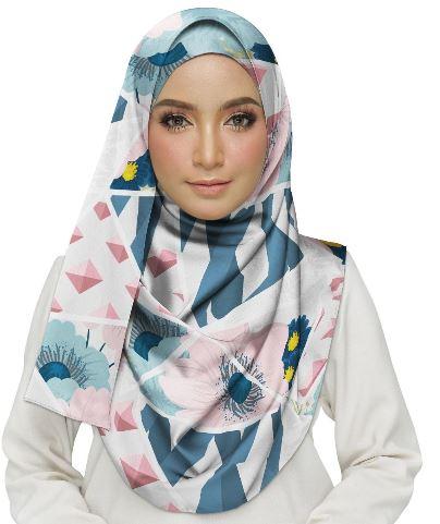 Floral Mosaic Hijab