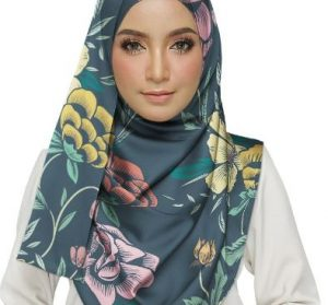 Floral Background Pattern Hijab