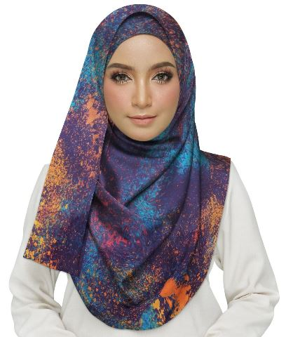 Grunge of Colorful Spots Hijab