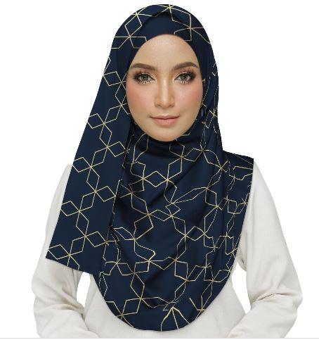 Artistic Geometric Pattern Hijab