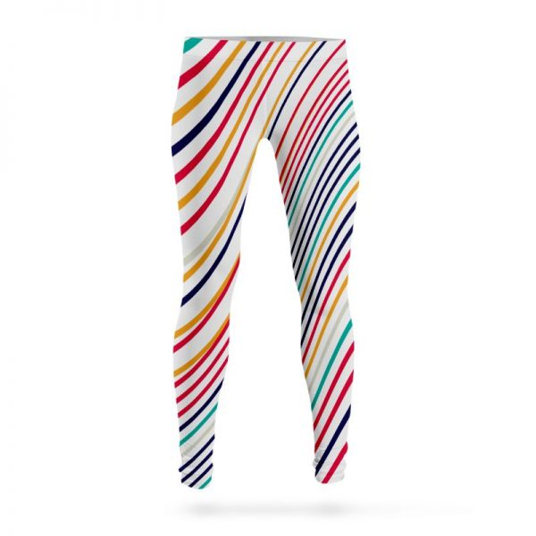 Abstract Colorful Stylish Lines Leggings