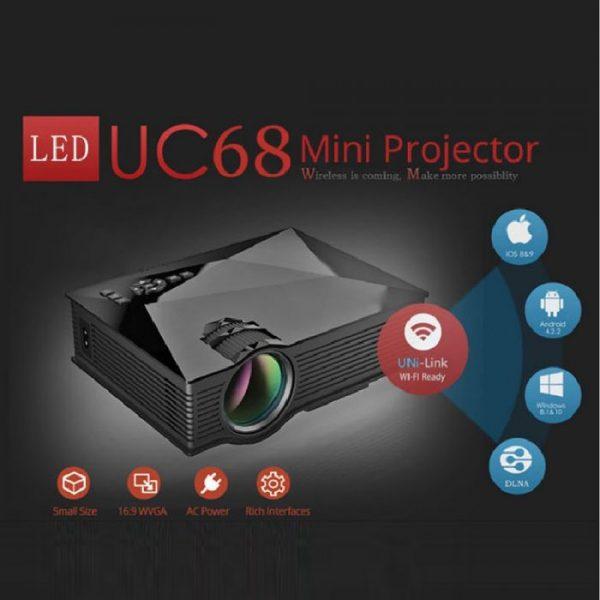 UNIC Mini Projector UC68 WiFi 1800 Lumens