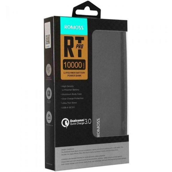 Romoss Rt10 Pro Power bank 10000 Mah Qualcomm 3.0