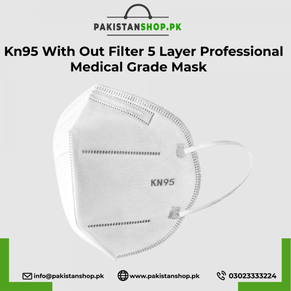 Kn95 With Out Filter 5 Layer Professional Medical Grade Mask