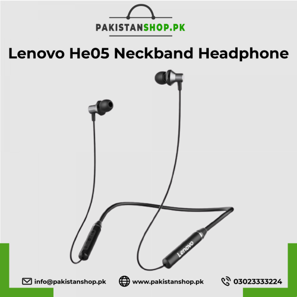 Lenovo-He05-Neckband-Headphone
